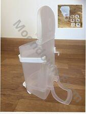 0,5 kg Sementi tramoggia in plastica con allegati ESTERNO PER GABBIA / Fringuelli / Canary / VOLIERA