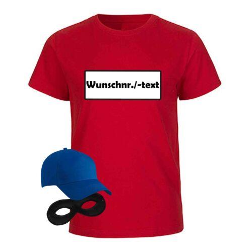 T-Shirt Panzerknacker Kinder Wunschnummer Kostüm-Set Karneval Fasching 98-164
