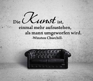 Winston Churchill Kunst Wandtattoo Black Zitat Spruch Motivation
