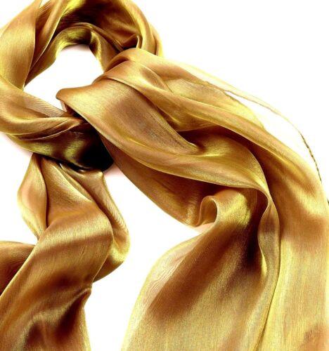 Sciarpa in Chiffon Oro-Argento Metallico-collo-BRACCIO Scialle spalla-RAZZE Da Sera Crociera *