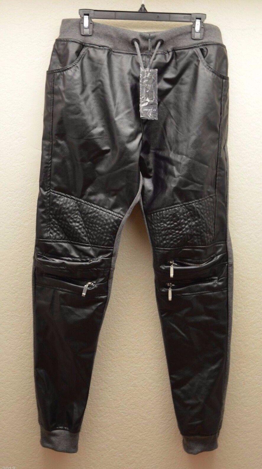 AMERICAN STITCH Zip Jog Men Sweat Slim Fit Pants Ribbed Waist Cuffs Size XL NEW