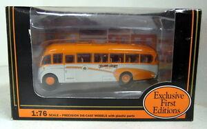 EFE-1-76-Scale-18701-Bedford-SB-Duple-Vega-Orange-Luxury-diecast-model-bus