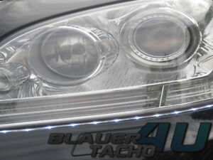2x TFL LED Tagfahrlicht Stripe 25cm Side SMD LEDs 3M Klebestreifen E-Prüfzeichen