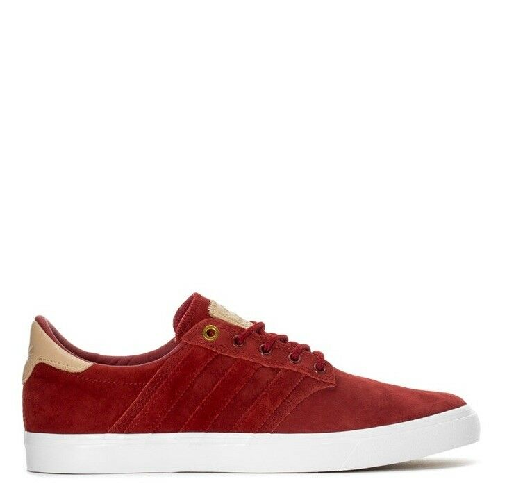 12 NEW  Adidas Seeley Premiere Classified - Mens  BB8528  Red White Casual shoes