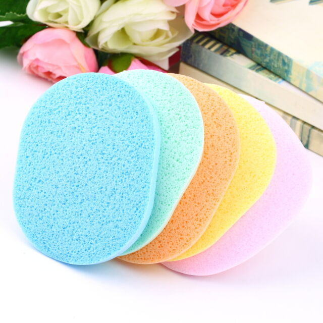 1 Pcs Soft Natural Facial Sponge Compressed Puff Face Wash Cleansing Puff IG