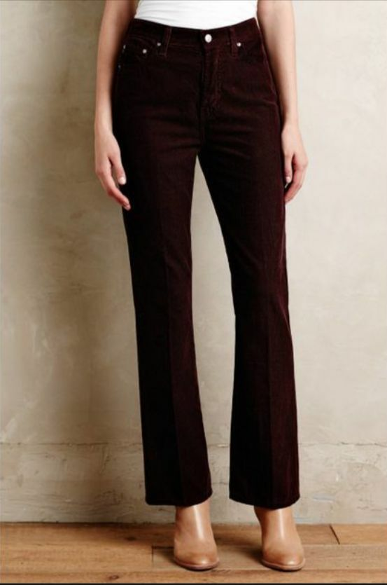 NEW Alexa Chung for AG Revolution Flare Flare Corduroy Jeans Pants  198 Sz 26 R
