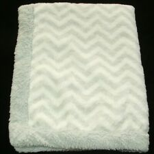 HTF NWT Koala Baby Grey And White Chevron Zig Zag Striped Thick Plush Blanket