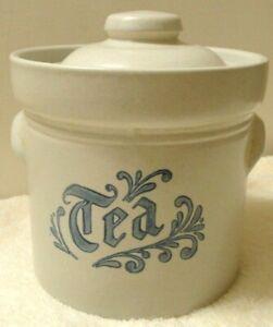 Pfaltzgraff-YORKTOWNE-MADE-IN-USA-Tea-Canister-Vintage