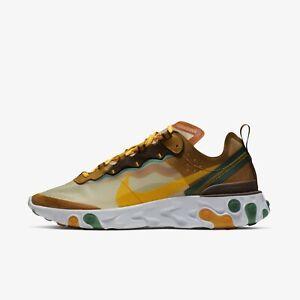 3b79a1f7 New Nike React Element 87 Shoes Sneakers- Pale Ivory/Orange Peel ...