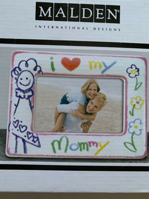 """Mommy Frames: Picture Frame 4 X 6 NEW IN BOX """"I ️ (Love) MY MOMMY"""""""