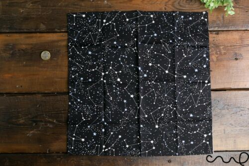 Handmade Unisex Pocket Square Cotton Handkerchief Black Horoscope Star Wedding R