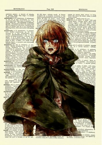 Attack On Titan Armin Anime Dictionary Art Print Poster Picture Manga Book Japan