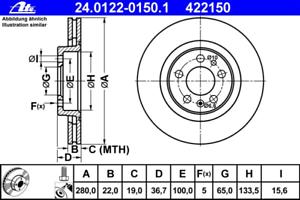 Disque de frein UAT 24.0122-0150.1 2 pièces