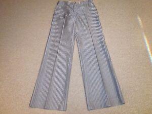 42 Taille mélange bleu rayé en Etro coton Pantalon de 8 4waq0x8