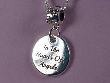 In the hands of Angels Rainbow Bridge Pet remembrance Pendant