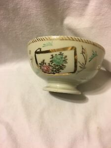 Antique-Japanese-Enameled-Bowl-Hand-Painted-and-Signed