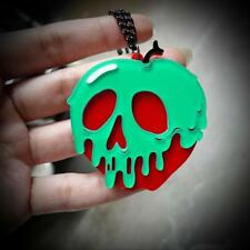 "POISON APPLE NECKLACE 2"" Acrylic Pendant Snow White Evil Queen Disney Inspired"