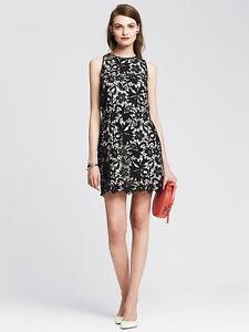0873d3c39ff Image is loading Banana-Republic-Black-Scalloped-Lace-Overlay-Sheath-Dress-