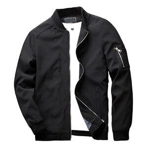 New-Men-Zipper-Casual-Work-Jacket-Fight-Bomber-Coat-Thin-Spring-Fashion-Baseball