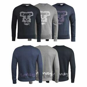 Mens-Jumper-Money-Clothing-Ape-Face-Crew-Neck-Sweatshirt