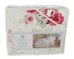 SIMPLY-SHABBY-CHIC-Sunbleached-Floral-Magenta-Pink-2P-Twin-Duvet-Set-NEW