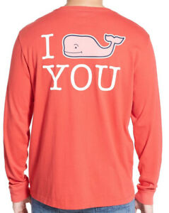 Men-039-s-VINEYARD-VINES-I-Whale-You-Long-Sleeve-Pocket-Tee-T-Shirt-Size-Medium-EUC