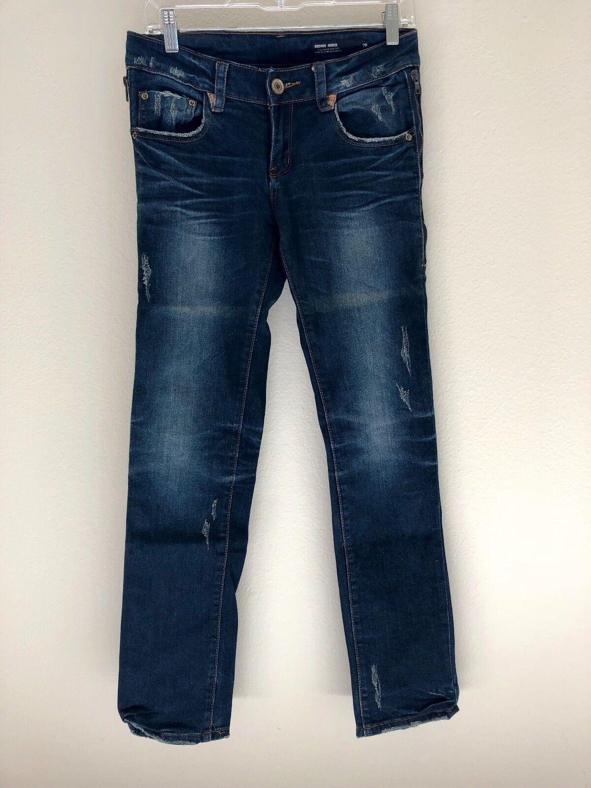 Dsquared2 Navy bluee Design Girls Jeans. 28. Waist 30.0