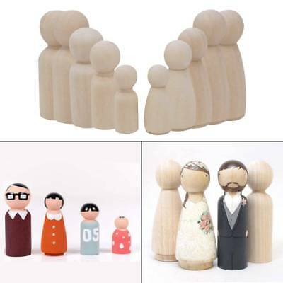 Unfinished Wooden Peg Dolls Are Perfect For Your Next Craft Project Quany 6pcs This Is Natural Wood May Have Scar Point Recognition Our