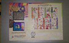 #0001 Royal Selangor Pewter AND Niobium Stamp FDC 1998 SUKOM Commonwealth Games
