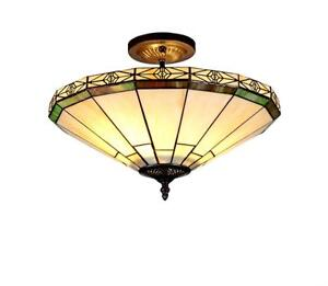 Tiffany-Style-Stained-Glass-Mission-2-Light-Semi-Flush-Ceiling-Fixture-16-Shade