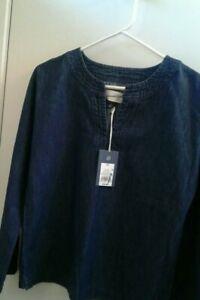 Universal-Thread-XS-Womens-Long-Bell-Sleeve-Denim-Blouse-NWT