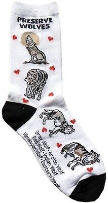 Preserve Wolves (33702)Women Socks Cotton New Gift Fun Unique Fashion Wolf Lover