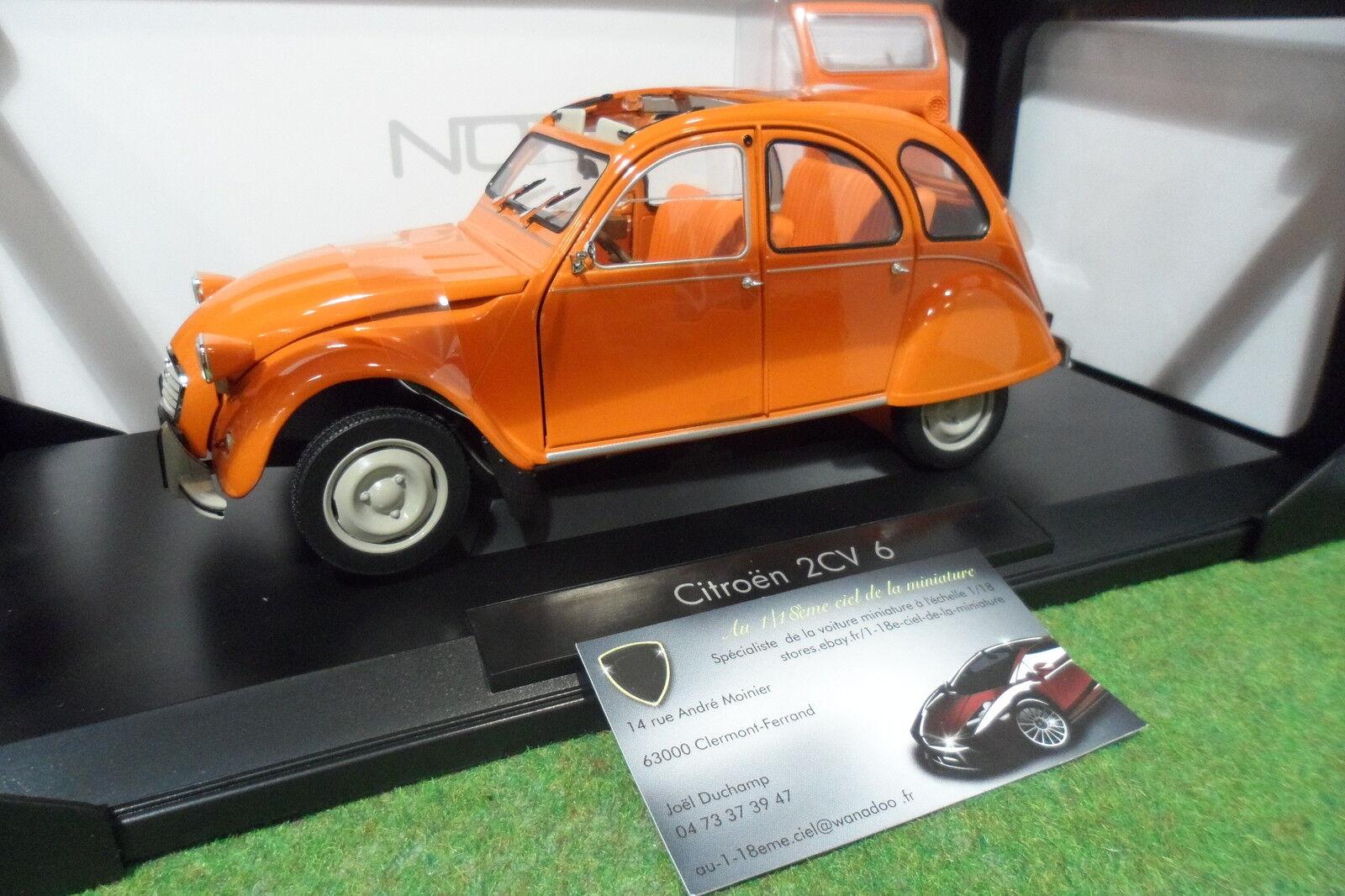 CITROËN 2CV 6 Ténéré Orange 1976  1 18 NOREV 181514 voiture miniature collection