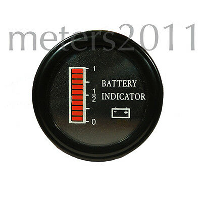 "Battery Discharge Indicator Round Ezgo Clubcar 2"" 24 Volt Battery Indicator"