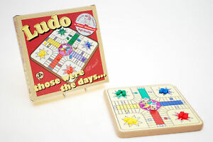 Snakes /& Ladders Prof Warbles Retro Traditional Wooden Board Travel Games Ludo