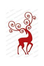 REINDEER FLOURISH DIE-Impression Obsession/IO Stamps (DIE336-V)-Steel-Christmas