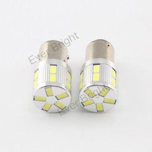 2Pcs 12V ~ 24V Blanco 1156 BA15S 5730 17SMD 17 LED Lámpara de luz de copia de seguridad de señal de vuelta
