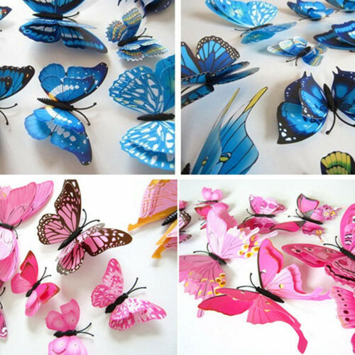 12pcs 3D Butterfly Design Decal Art Wall Stickers Room Decorations Home Decor HS