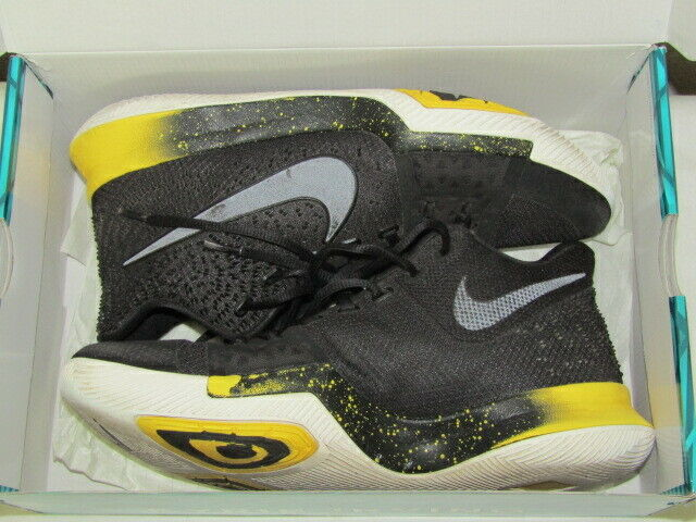 the best attitude 7ee14 5ba6b Nike Kyrie 3 Mens 852395-901 Black Yellow Basketball Shoes SNEAKERS Size 10