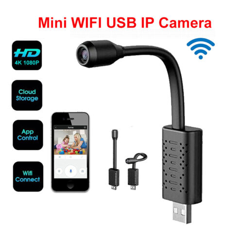 U21 Mini Wifi USB IP Kamera 1080P HD Loop Recording Human Detection Tasche