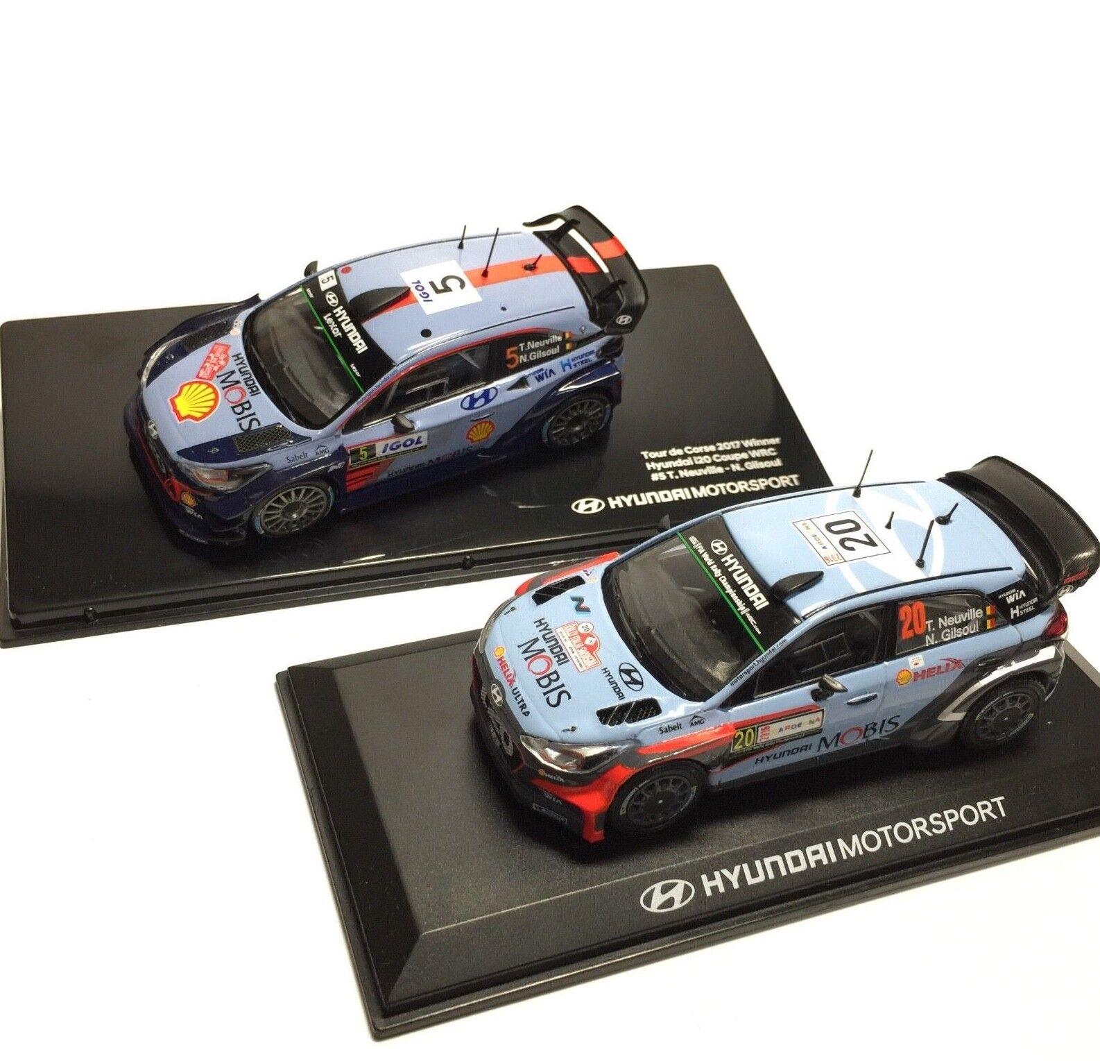 Hyundai i20 Coupe WRC 1:43 rally ganador 2018 1ea, 2018 1ea-Thierry Neuville