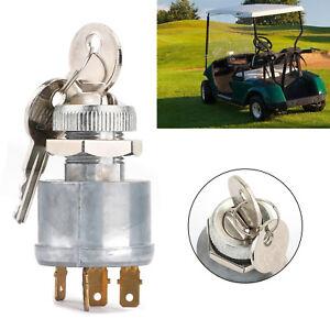 An/Aus/Outfit Zündung Schlüssel Schalter für Ezgo Golf Cart 1981-up 4 Terminal F