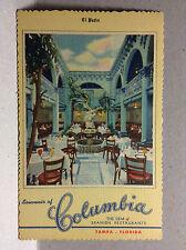 El Patio Souvenir Columbia The Gem of Spanish Restaurants Tampa FL Vtg Postcard
