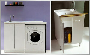 Mobile lavatoio lavanderia lavapanni lavatrice lavabo cm - Mobile coprilavatrice con lavatoio ...
