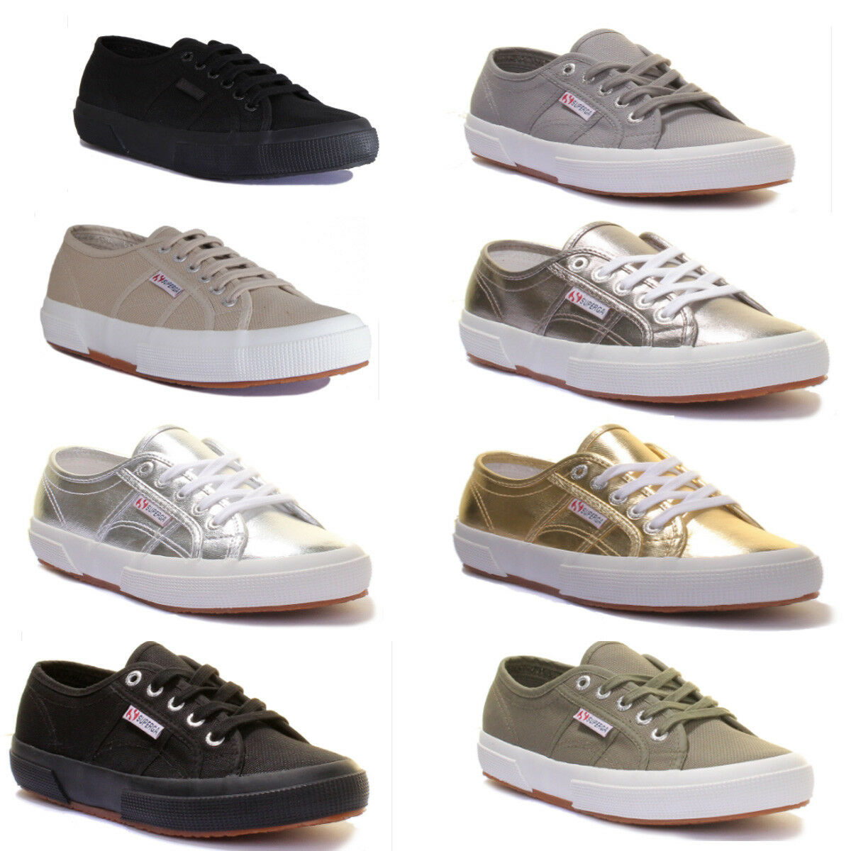 Superga 2750 2750 2750 Cotu Classic kvinnor duk Taupe Lace Up Trainers UK Storlek 3 - 8  köp 100% autentisk kvalitet
