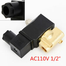 02 Amp 12 Brass For Gas Water Air Fuel Electric Solenoid Valve Npt Nc 110v