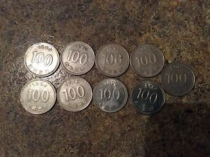 Image Is Loading 9 Coin Lot Of South Korean Coins 100