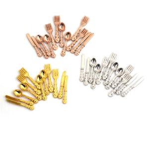 12x-1-12-Dollhouse-Miniature-Fork-Knife-Soup-Tableware-Kitchen-Furniture-R-HPTH