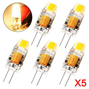 5x-G4-LED-COB-Dimmbar-3W-Energiespar-Lampe-360-Warmweiss-AC-DC-12V-Deutsche-Post