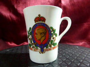 Rare King Edward VIII 1936 Commemorative MUG Ashley Bone China with gold gilding